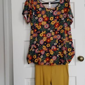 LulaRoe Outfit retro floral